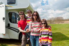 Family vacation trip in motorhome Royalty Free Stock Photo