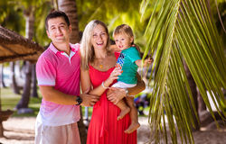 Family vacation in the tropics Stock Photos