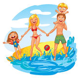 Family on vacation Stock Image