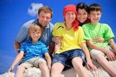 Family on vacations. Family together on summer vacations Royalty Free Stock Photography