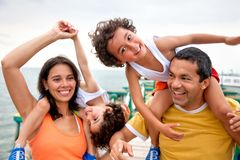 Family on vacations Stock Photography