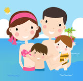 Family on vacations Royalty Free Stock Photo