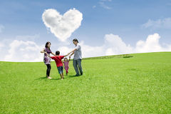 Family valentine's day Royalty Free Stock Photography