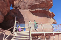 A Family at the Valley of Fire State Park Stock Image