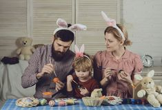 Family values, childhood, art, easter. royalty free stock image
