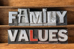 Family values tray Royalty Free Stock Photography