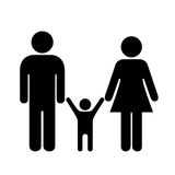Family vector icon. Isolated on white background Royalty Free Stock Photo