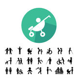 Family vector icon set Royalty Free Stock Photography