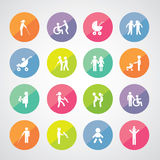 Family vector icon set Royalty Free Stock Image