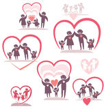 Family. Vector icon set. Royalty Free Stock Images