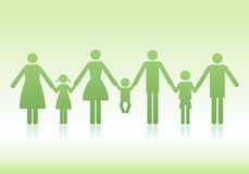Family vector icons Royalty Free Stock Images