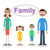 Family. Vector illustration of family, vector illustration on different layers, suitable for animation Stock Photo