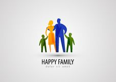 Family vector logo design template. parents or Stock Photography