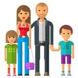 Family vector logo design template. parents or Stock Photos