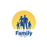 Family vector logo design template. people or Stock Photos