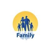Family vector logo design template. people or Stock Photos