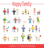 Family vector set infographics Stock Photo