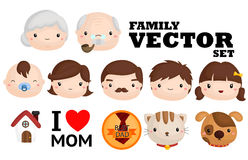 Family Vector Set Royalty Free Stock Images