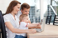 Family Video Chat Royalty Free Stock Photography