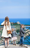 Family at viewpoint Stock Images