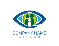 Family vision care logo Royalty Free Stock Images