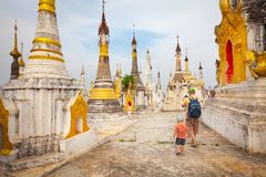Thaung Tho Temple on Inle Lake. Myanmar. Royalty Free Stock Image
