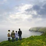 Family visiting Cape St. Mary's Bird Sa Stock Image