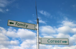 Family vs Career options Stock Image