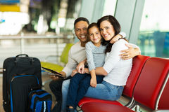 Family waiting airport Stock Image