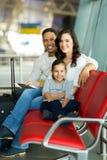 Family waiting flight Stock Photo