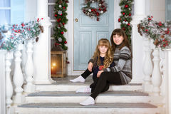 Family waiting for New year and Christmas Stock Photography