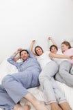 Family wake up Royalty Free Stock Photography