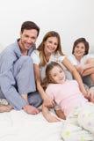 Family wake up Royalty Free Stock Photo