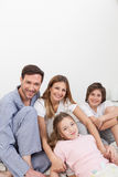 Family wake up Stock Photo