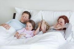 Family waking up Royalty Free Stock Image