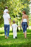 Family walk Royalty Free Stock Images