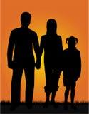 Family Walk. Work with vectors , eps + jpg Stock Photos