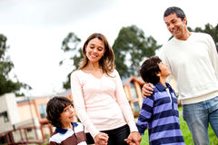 Family walk Royalty Free Stock Photography