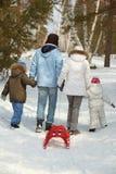 Family walk Royalty Free Stock Photo
