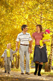 Family on walk Stock Photography