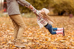 Family walk autumn Royalty Free Stock Images
