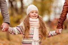 Family walk autumn Royalty Free Stock Image