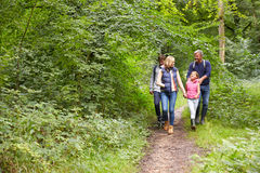Family On Walk Through Beautiful Countryside Royalty Free Stock Image
