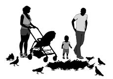 Family on walk Stock Photography