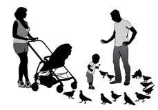 Family on walk Royalty Free Stock Photography