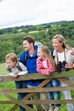 Family On Walk In Countryside Royalty Free Stock Image