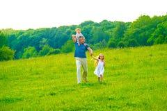Family walk. Stock Image