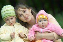 Family at walk III royalty free stock image