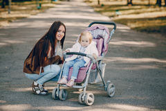 Family walk in the park Stock Photography