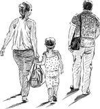 Family on walk Stock Photos